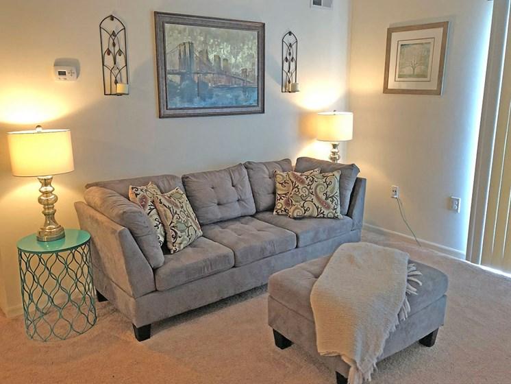 Bright Living Room at Walker Estates Apartments, Georgia