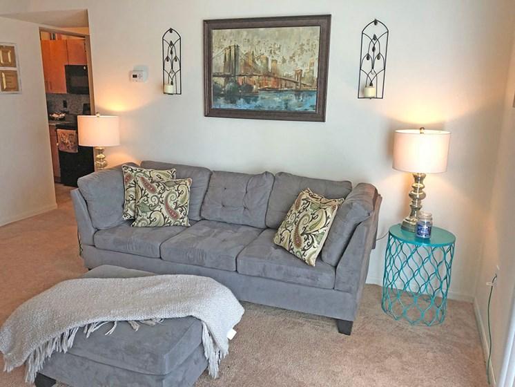 Classic Living Room Design at Walker Estates Apartments, Augusta, 30906