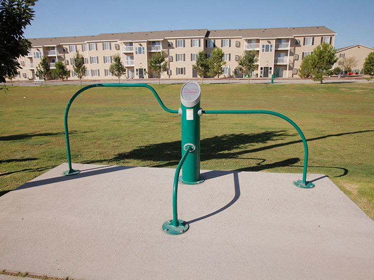 Fitness Activity Path at Van Horne Estates Apartments, Texas
