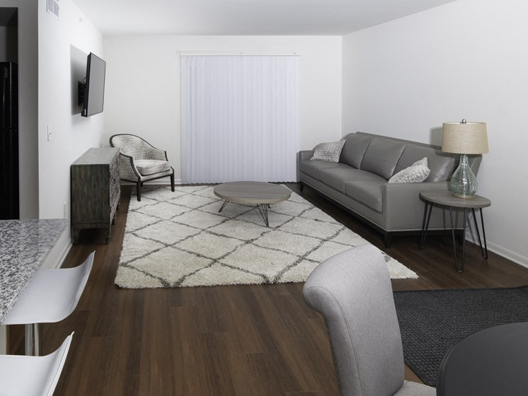 Modern Living Room at Steedman Apartments, MRD Conventional, Waterville, Ohio