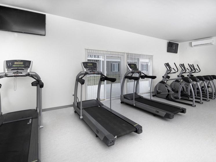 Cardio Machines In Gym at Steedman Apartments, MRD Conventional, Ohio, 43556