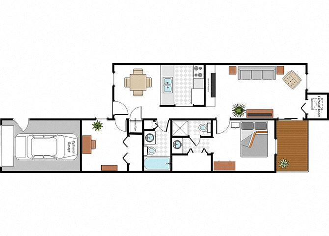 Floor Plan Layout at Raleigh House Apartments, East Lansing, 48823