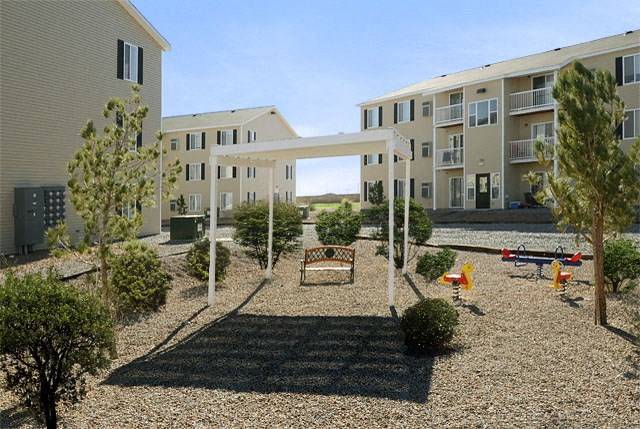 Shaded Childrens Play Area at Van Horne Estates Apartments, El Paso, Texas