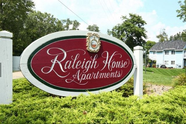 Signboard To Property at Raleigh House Apartments, Michigan, 48823