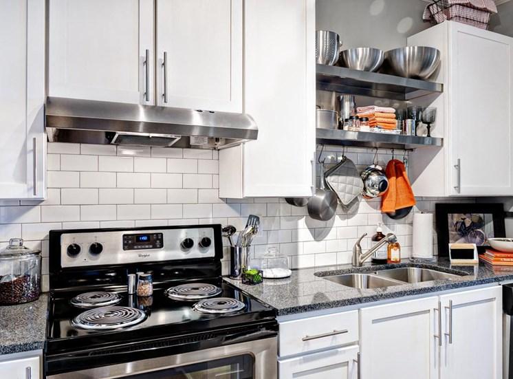 Modern upscale kitchen at Westside, 790 Huff Rd. NW, Atlanta