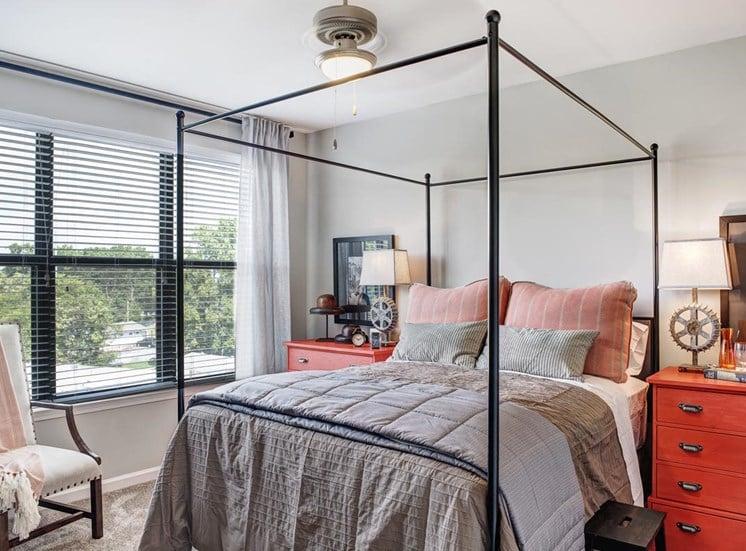 Over sized bedroom windows at Westside, Atlanta GA