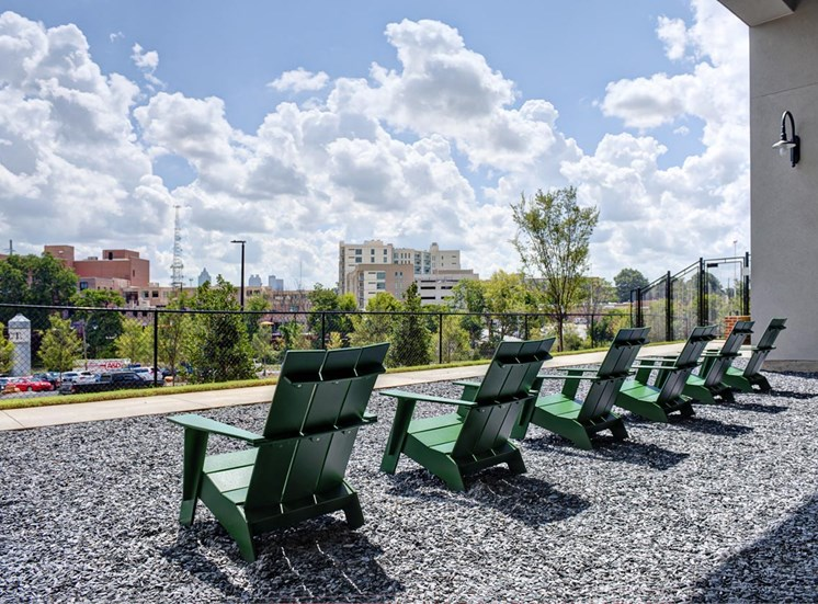 Relaxing outside lounge area at Westside, Georgia, 30318
