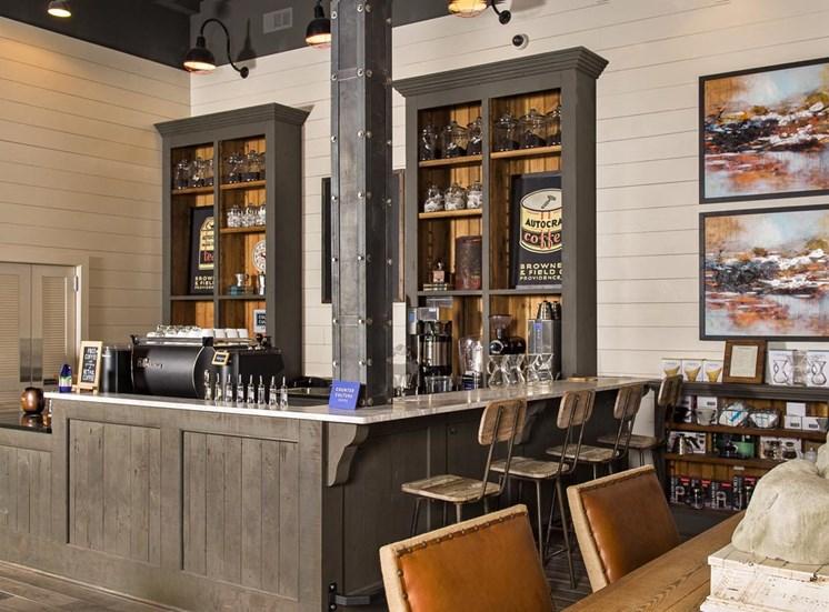On-site Coffee bar at Westside, Atlanta, Georgia