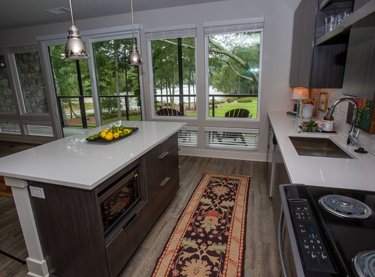 Chattahoochee Riverside Island Kitchens