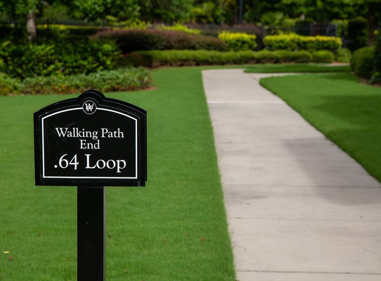 Walton Oaks Apartment Homes, Augusta GA Walking Path