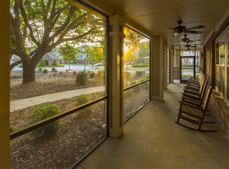 The Legacy at Walton Oaks Apartment Homes, Augusta GA Screened in Patio