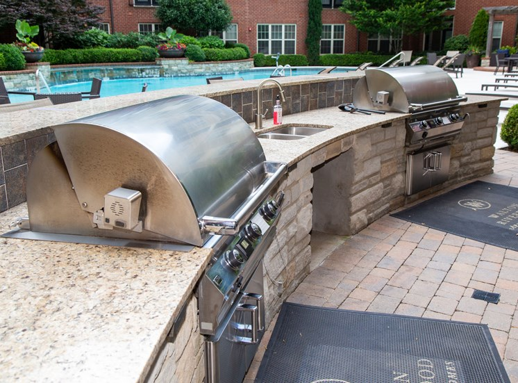 Walton Riverwood Apartment Homes  Atlanta, GA Poolside Grills