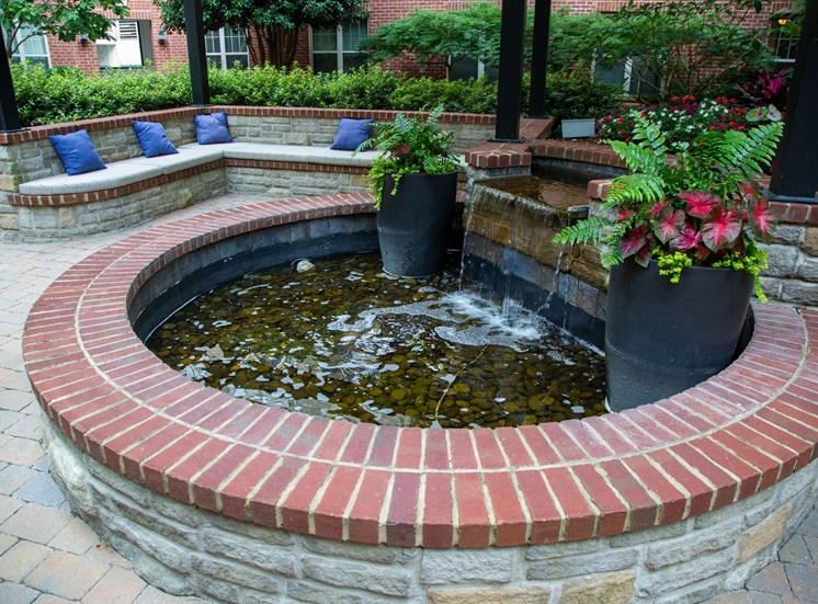 Walton Riverwood Apartment Homes  Atlanta, GA Fountain Courtyard
