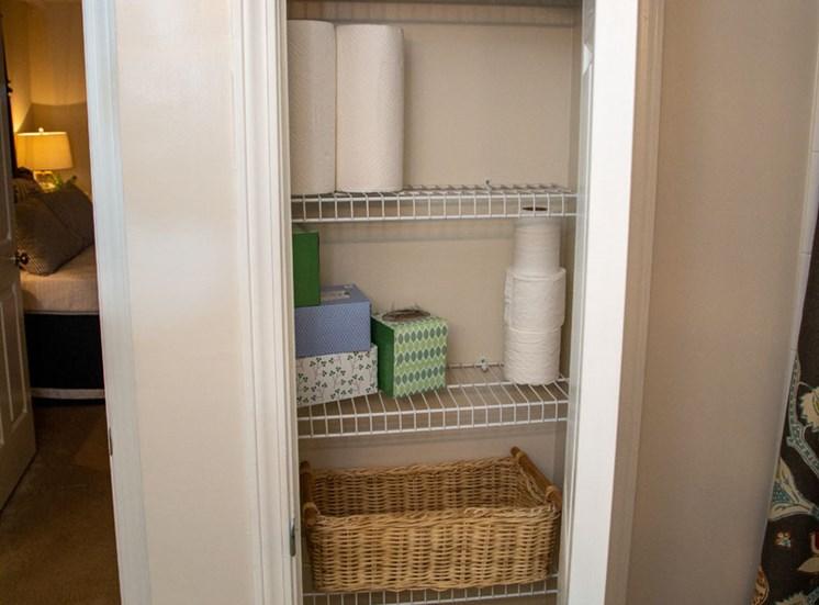 Walton Vinings Apartment Homes Linen Closet