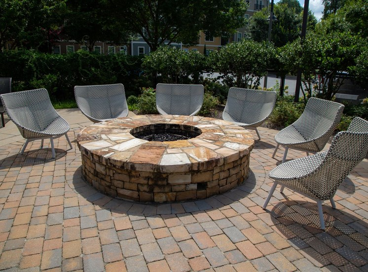 Woodstock West by Walton Apartment Homes  Outdoor Fire PIt