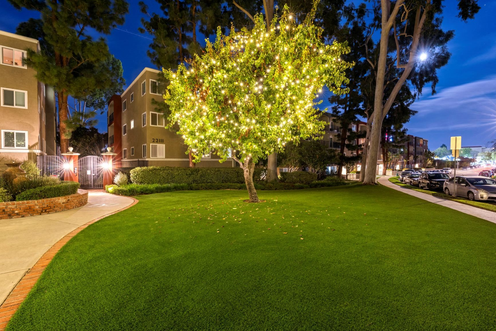 Exterior Property with Lights