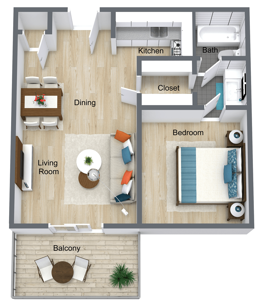 1 Bedroom | 1 Bathroom