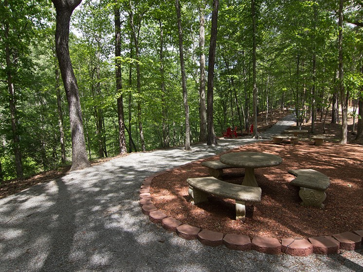 Picnic area and waking trails.