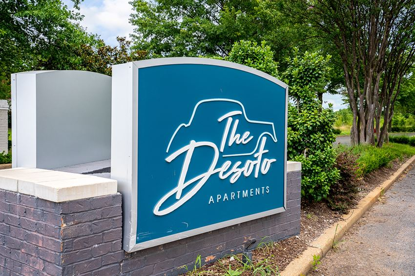 The DeSoto Monument Sign