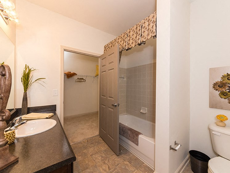 Bathroom with Attached Walk-In Closet