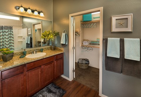 Bathroom With Vanity Sink at Casitas at San Marcos in Chandler, AZ