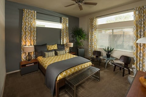Bedroom at Casitas at San Marcos in Chandler, AZ
