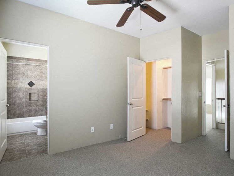 Bedroom at Dolce Villagio Townhomes in Tempe AZ
