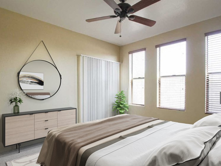Bedroom at Dolce Villagio Townhomes in Tempe AZ 3-20