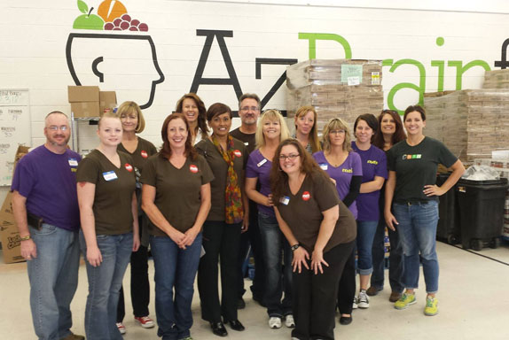 MEB Management Services employees gives back at a food bank 2