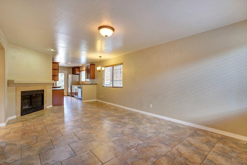 Living Room With Fireplace at Cedar Ridge in Prescott, AZ