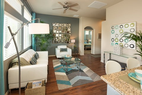 Living Room at Casitas at San Marcos in Chandler, AZ