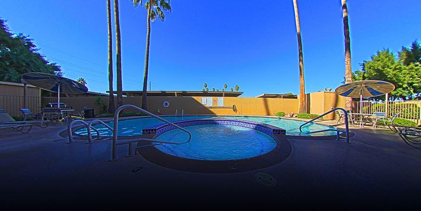 Pool & Pool Patio at The Van Buren Luxury Apartments in Tucson, AZ