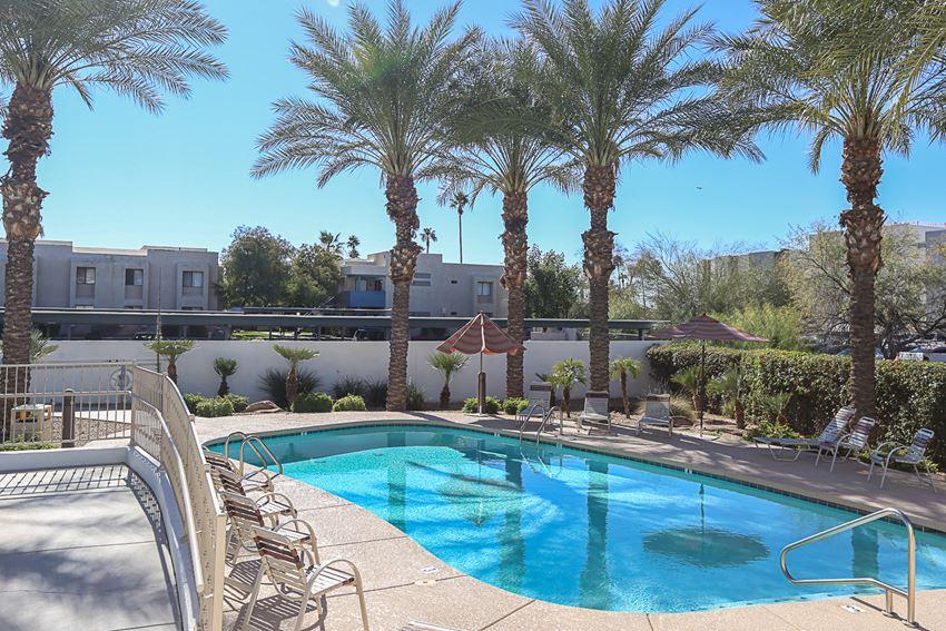 Pool & Pool Patio at Villa Contento Apartments in Scottsdale, AZ