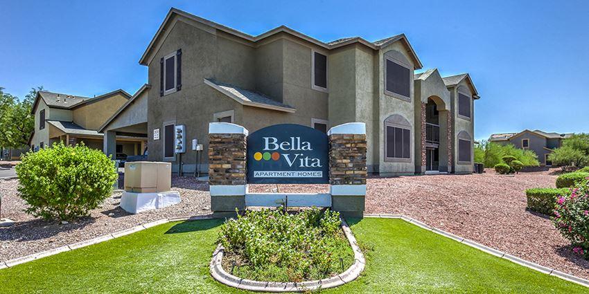 Signage, Exterior & Landscaping at Bella Vita in Bullhead City, AZ