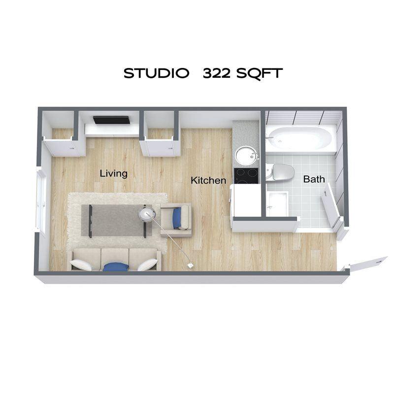 Studio - 1st floor unit