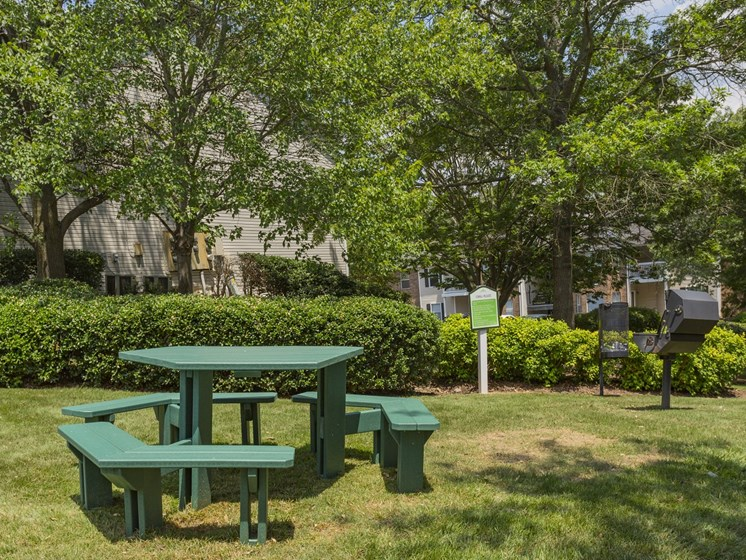 Outdoor seating area at Waterford Place