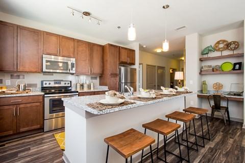 Greenhaven apartment kitchen