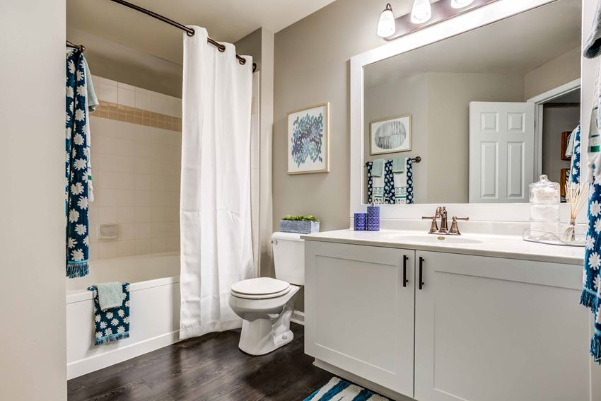 Deluxe-size bathroom inside apartment