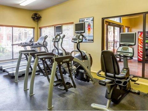 Cardio and weight machines
