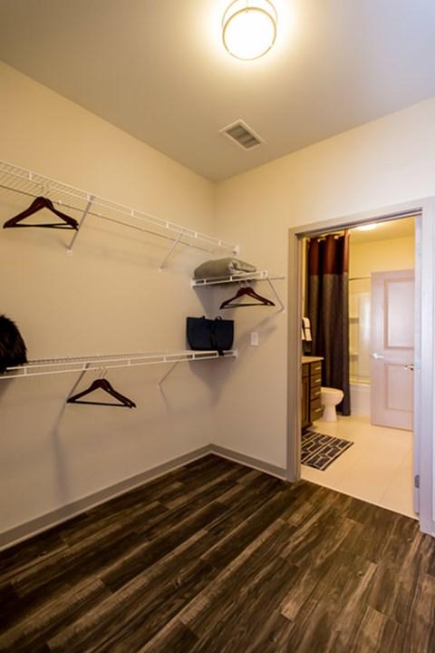 Greenhaven apartment walk-in closet
