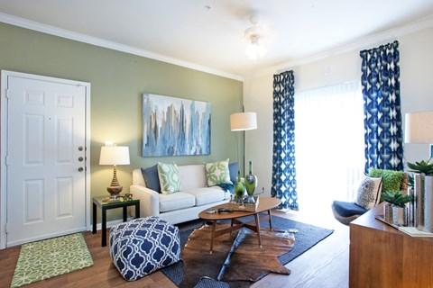 Grand Prairie apartments, apartments in grand prairie, one bedroom apartment, natural sunlight, living room, apartments for rent in grand prairie