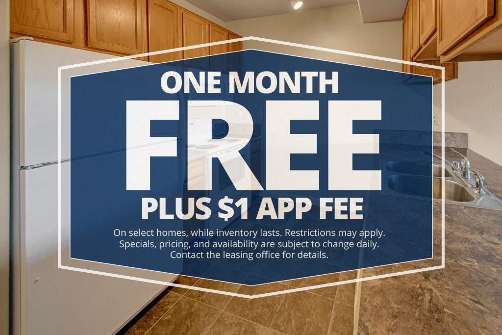 One Month Free - Plus $1 App Fee - Confluence Apartments