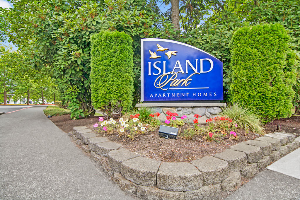 Island Park property entrance