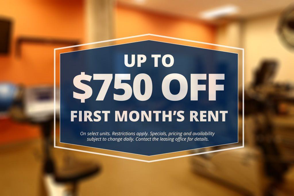 Up tp $750 Off First Month's Rent - Restrictions Apply