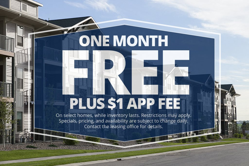 One Month Free Plus $1 App Fee - Prairie Pines