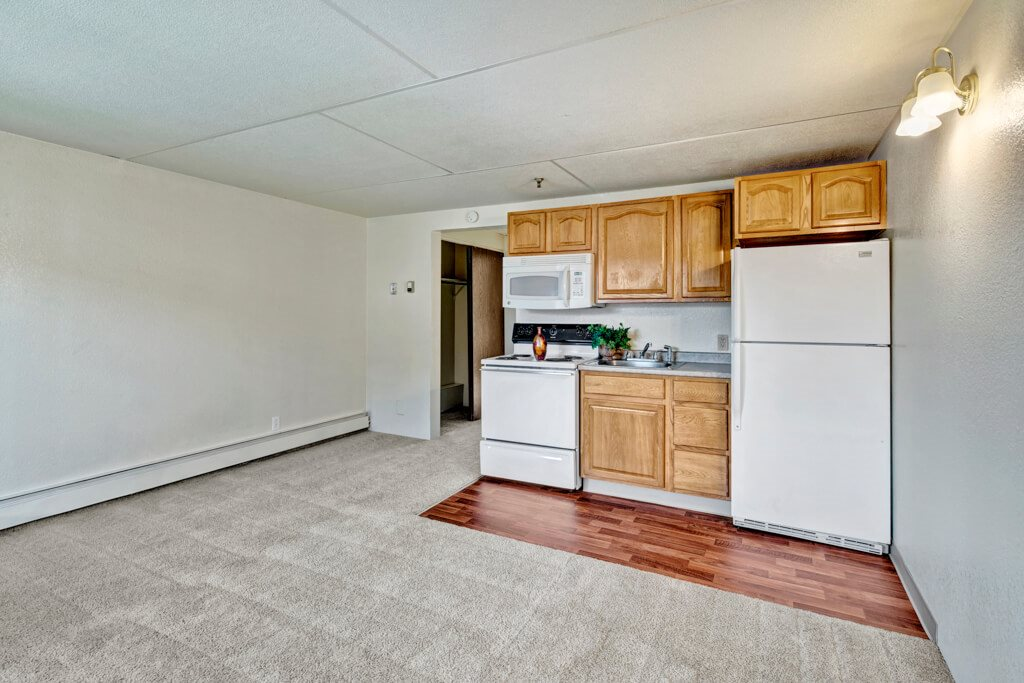 College View living room and kitchen