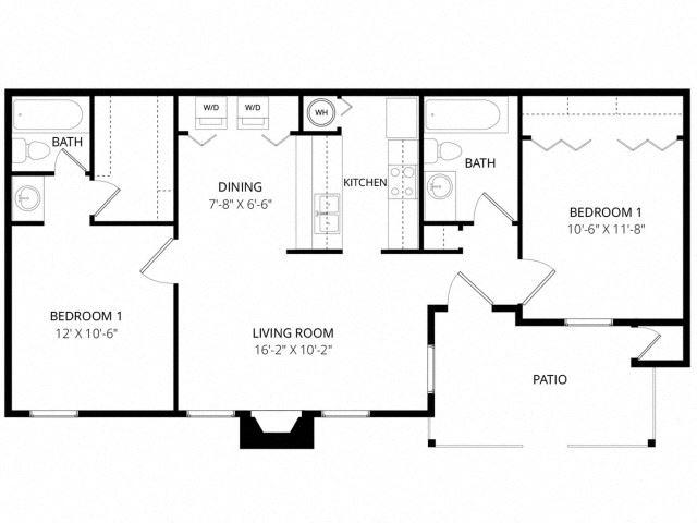 Medium 2 Bedroom