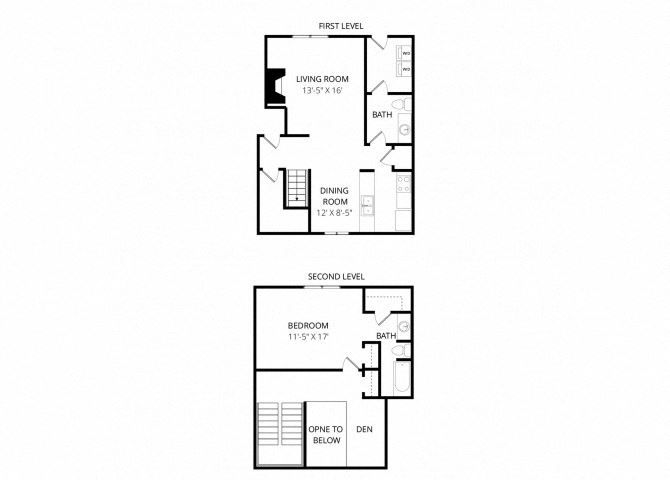 Single Townhome with Den