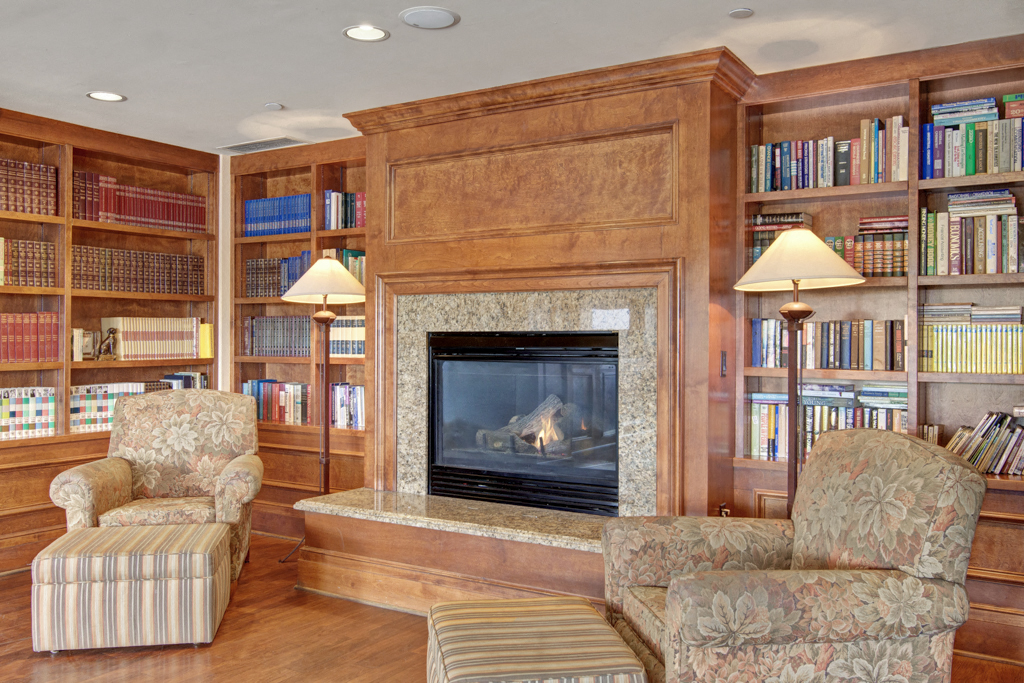 Stoneleigh Library with Fireplace