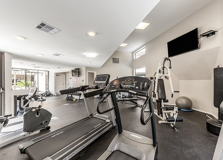 Cardio Machines In Gym at Augusta Court Apartments, Texas